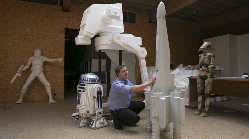 Conception des sculptures star wars