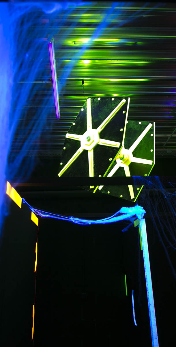 Installation du labyrinthe Laser Game