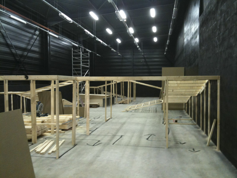 Construction d'un labyrinthe Laser Game